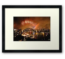 Reflections of New And Old - New Years Eve , Sydney Harbour    Framed Print