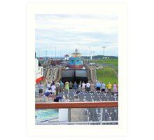 Gatun Locks, Panama Canal Art Print