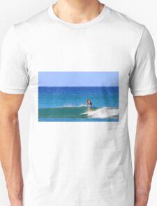Surfing Waikiki Unisex T-Shirt