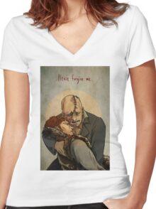 Frankenstein- Paradise Lost Women's Fitted V-Neck T-Shirt