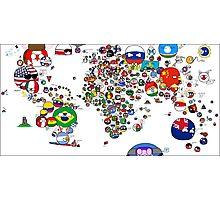 Polandball Countryball World Map | Countryballs Meme Photographic Print