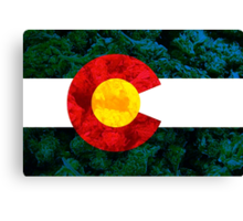 Colorado Chronic Flag Canvas Print