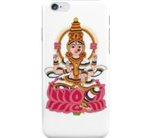 goddess Lakshmi kalamkari white iPhone Case/Skin