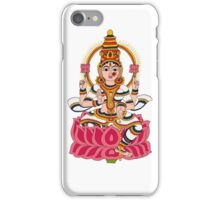 goddess Lakshmi kalamkari white iPhone Case/Skin
