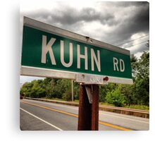 KUHN road Canvas Print