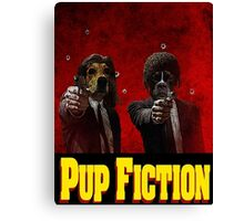 Pup Fiction Canvas Print