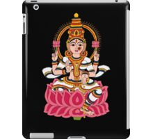 goddess Lakshmi kalamkari black iPad Case/Skin