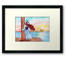 Watching Love Sail Away Framed Print