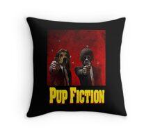 Pup Fiction Throw Pillow