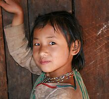 Eng tribe village girl, Shan state, Buma by Thomas Entwistle