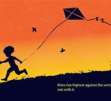 Kites rise highest against the wind by SFDesignstudio