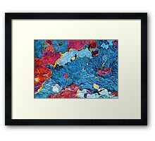 Infrared Satellite Image Framed Print