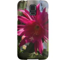 Vivacious Christmas Cactus Bloom Samsung Galaxy Case/Skin