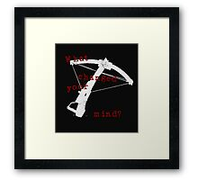 What Changed Your Mind? Framed Print