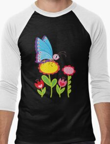 Butterfly Men's Baseball ¾ T-Shirt