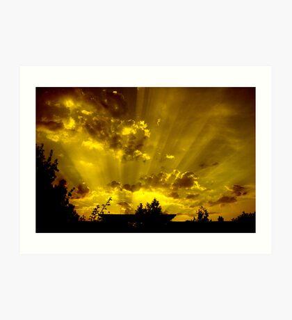 harrow sunset Art Print
