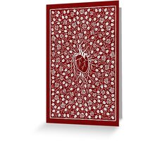 Rose vine and human heart Greeting Card