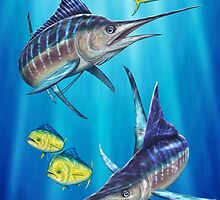 Double Trouble - Striped Marlin & Mahi Mahi by David Pearce