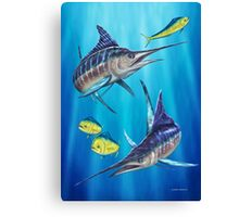 Double Trouble - Striped Marlin & Mahi Mahi Canvas Print