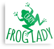 CRAZY frog lady  Metal Print