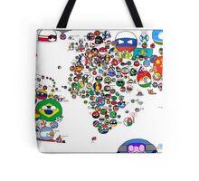 Polandball Countryball World Map | Countryballs Meme Tote Bag