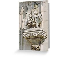 Stonework on Regensburg Cathedral Greeting Card