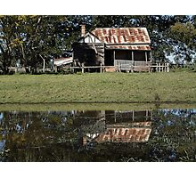 Rustic Home Reflection, Pacific Highway, Australia 2011 Photographic Print