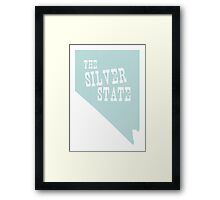 Nevada State Motto Slogan Framed Print