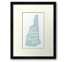 New Hampshire Slogan Framed Print