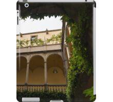 Courtyard - Green Mediterranean Serenity and Peace iPad Case/Skin