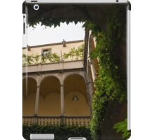 Courtyard - Green Mediterranean Serenity and Peace iPad Case/Skin