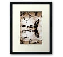 Flowing Time Framed Print