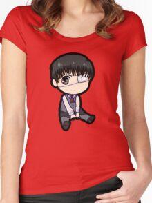 Kaneki Ken (Tokyo Ghoul) Women's Fitted Scoop T-Shirt