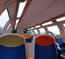 on the train by dominiquelandau