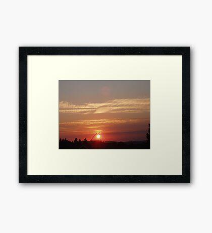 Sunset over Wembley Stadium 2 Framed Print