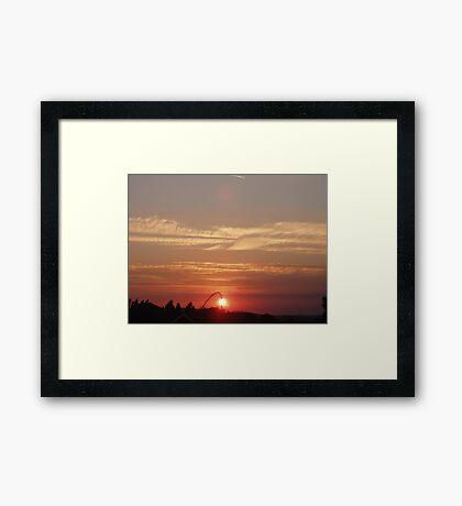 Sunset over Wembley 4 Framed Print