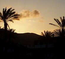 Sunset Lanzarote by Lindymrb