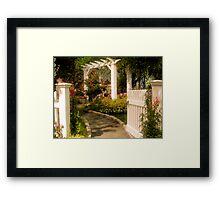 The Garden Gate Framed Print