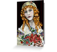 Little Red Head Girl Greeting Card