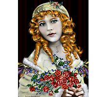 Little Red Head Girl Photographic Print