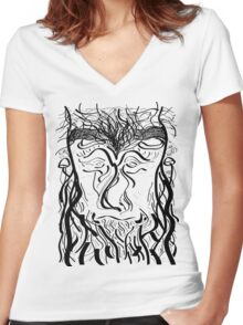 Woody Women's Fitted V-Neck T-Shirt