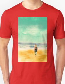 Stanley on Blackpool Beach Unisex T-Shirt