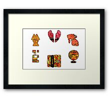 Coldplay fall Framed Print