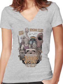 Terror Vision Women's Fitted V-Neck T-Shirt