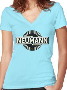 Vintage Neumann Horizontal Women's Fitted V-Neck T-Shirt