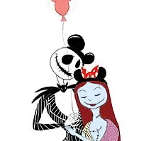 jack and sally showing their #disneyside by hacobcorreia