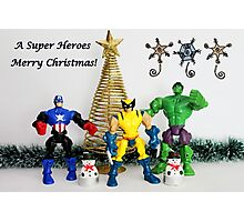 A Super Heroes Merry Christmas! Photographic Print