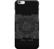 Still Alive Lyrics Companion Cube iPhone Case/Skin