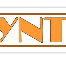 Synth Orange Sticker
