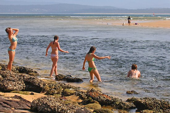 Beach Babes at Merimbula by Darren Stones